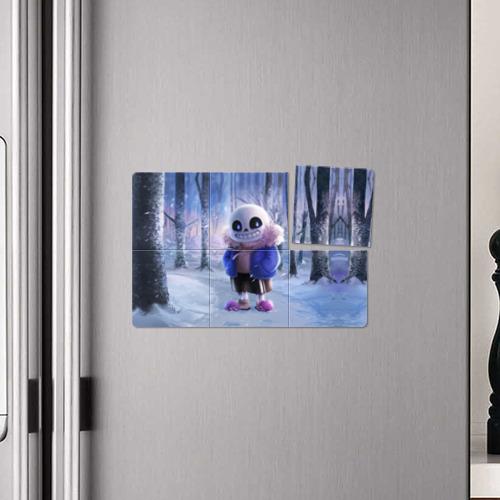 Магнитный плакат 3Х2  Фото 04, Winter forest & Sans