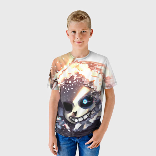 Детская футболка 3D Sans and snow