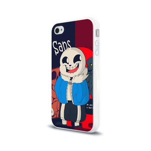 Чехол для Apple iPhone 4/4S силиконовый глянцевый  Фото 03, Sans