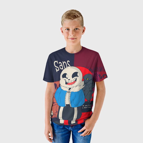 Детская футболка 3D  Фото 01, Sans