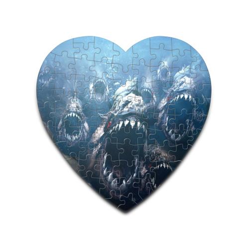 Пазл сердце 75 элементов  Фото 01, Голодные пираньи
