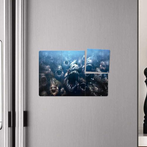 Магнитный плакат 3Х2  Фото 04, Голодные пираньи