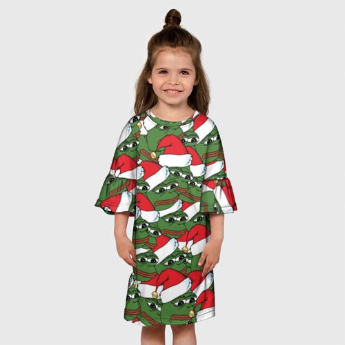 Детское платье 3D  Фото 01, Sad frog new year