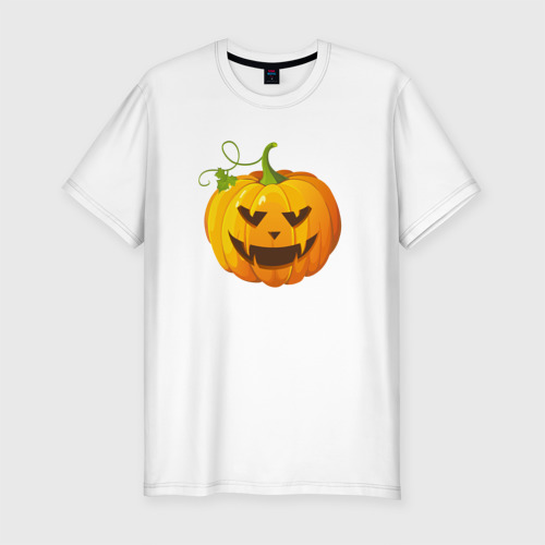 Мужская футболка премиум  Фото 01, Хэллоуин тыква