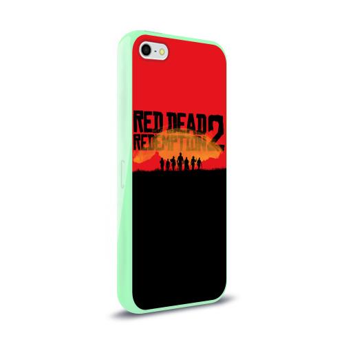 Чехол для Apple iPhone 5/5S силиконовый глянцевый Red Dead Redemption 2 Фото 01