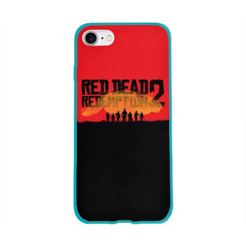 Чехол для Apple iPhone 8 силиконовый глянцевый Red Dead Redemption 2 Фото 01