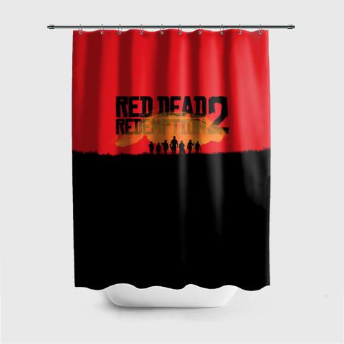 Штора 3D для ванной Red Dead Redemption 2 Фото 01