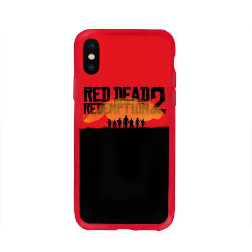 Чехол для iPhone X глянцевый Red Dead Redemption 2 Фото 01