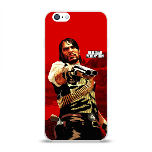 Чехол для Apple iPhone 6 силиконовый глянцевый  Фото 01, Red Dead Redemption