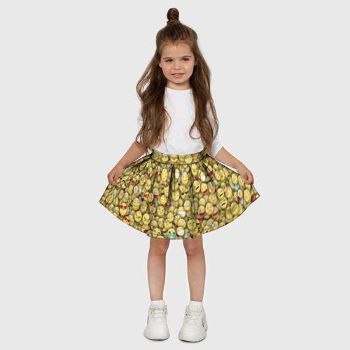Детская юбка-солнце 3D  Фото 03, Смайлики. Стикербомбинг