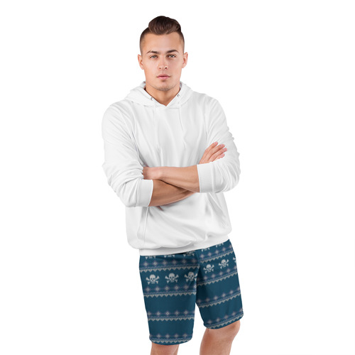 Мужские шорты 3D спортивные  Фото 05, Свитер с черепами