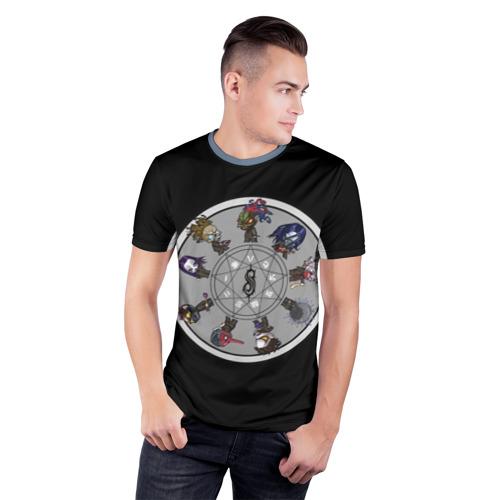 Мужская футболка 3D спортивная  Фото 03, Slipknot