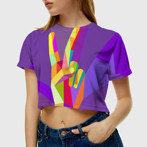 Женская футболка Crop-top 3D Victory Фото 01