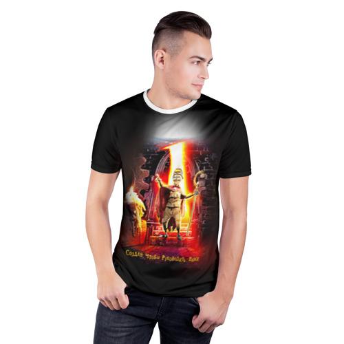 Мужская футболка 3D спортивная  Фото 03, Девять 1