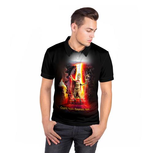 Мужская рубашка поло 3D  Фото 05, Девять 1