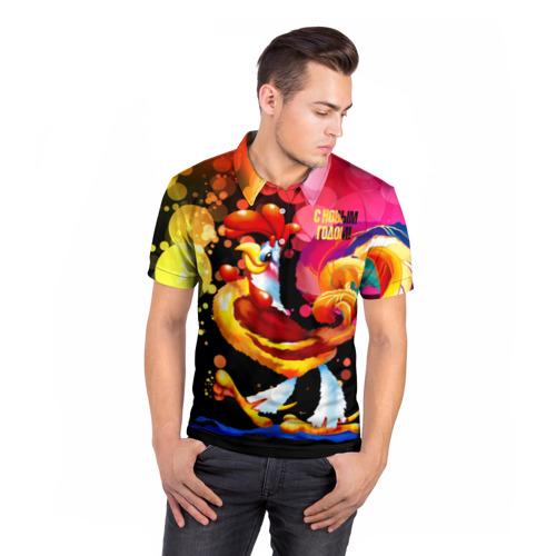 Мужская рубашка поло 3D  Фото 05, С Новым годом!