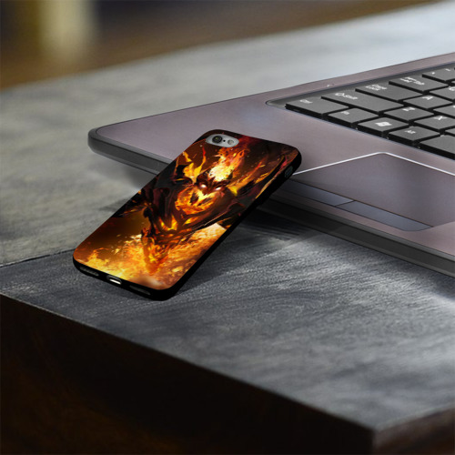 Чехол для Apple iPhone 8 силиконовый глянцевый Fire Фото 01