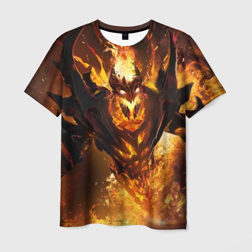 Мужская футболка 3D Fire