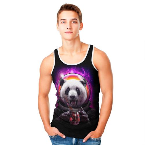 Мужская майка 3D  Фото 05, Panda Cosmonaut