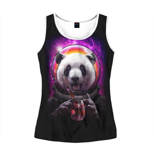 Женская майка 3D  Фото 01, Panda Cosmonaut