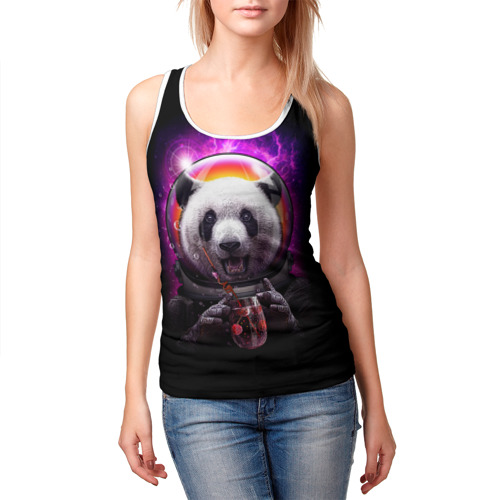 Женская майка 3D  Фото 03, Panda Cosmonaut