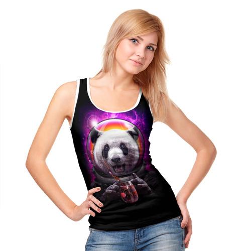 Женская майка 3D  Фото 05, Panda Cosmonaut
