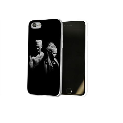 Чехол для Apple iPhone 8 силиконовый глянцевый  Фото 02, Two