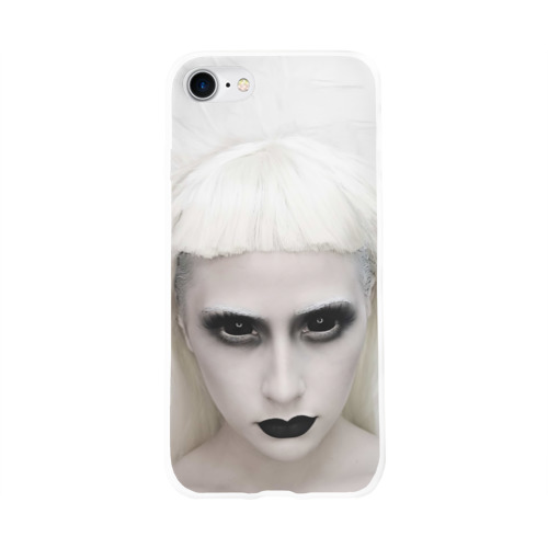 Чехол для Apple iPhone 8 силиконовый глянцевый  Фото 01, Black Eyes