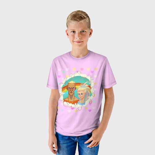 Детская футболка 3D  Фото 01, Pink