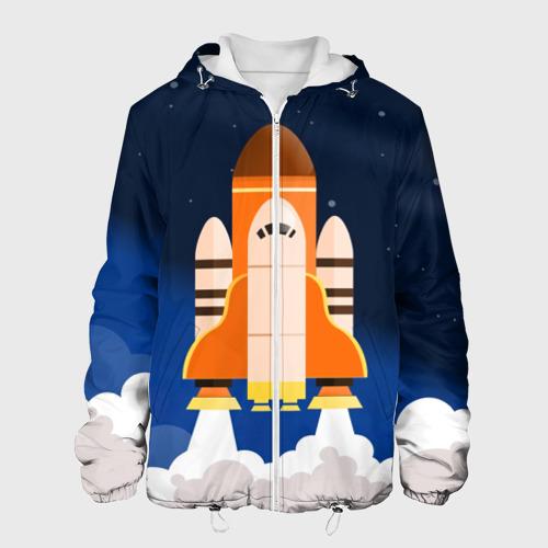 Мужская куртка 3D  Фото 01, Космический корабль