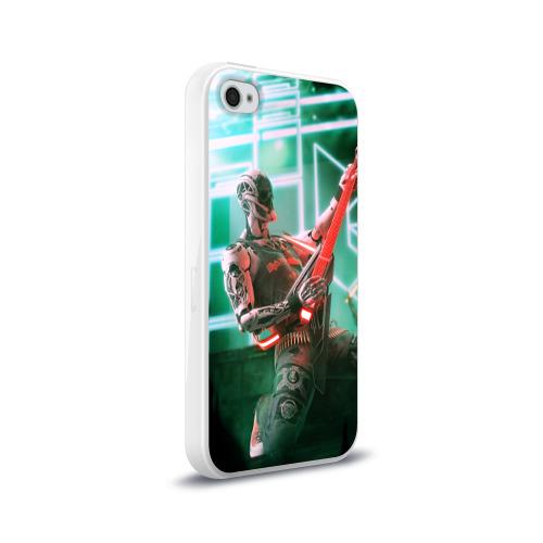 Чехол для Apple iPhone 4/4S силиконовый глянцевый  Фото 02, Rocker Robot