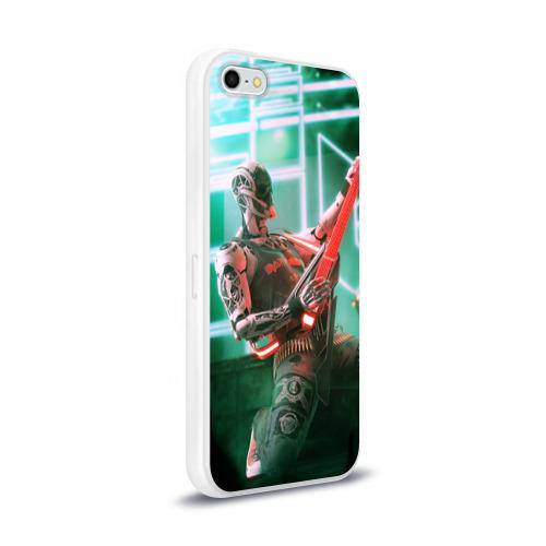 Чехол для Apple iPhone 5/5S силиконовый глянцевый  Фото 02, Rocker Robot