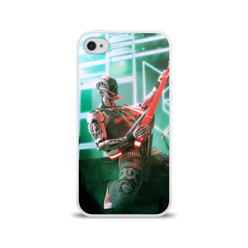 Чехол для Apple iPhone 4/4S силиконовый глянцевый  Фото 01, Rocker Robot