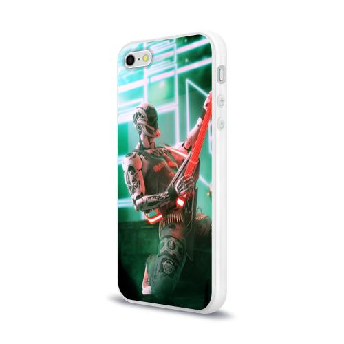 Чехол для Apple iPhone 5/5S силиконовый глянцевый  Фото 03, Rocker Robot