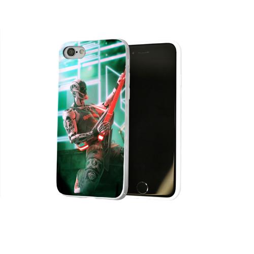 Чехол для Apple iPhone 8 силиконовый глянцевый  Фото 02, Rocker Robot