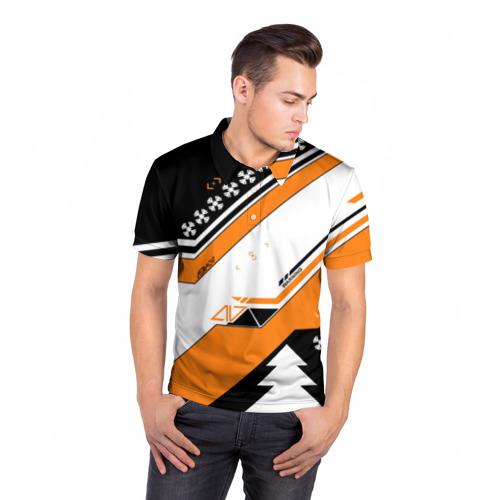 Мужская рубашка поло 3D  Фото 05, Новогодний cs:go асимов