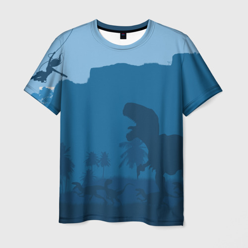 Мужская футболка 3D  Фото 03, TOMB RAIDER DINOSAUR