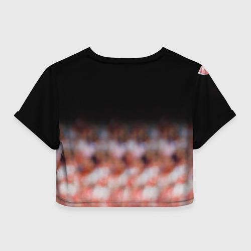 Женская футболка Crop-top 3D Капитан Тьерри Анри Фото 01