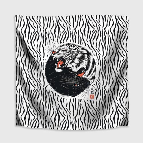 Скатерть 3D  Фото 02, Yin Yang Tigers