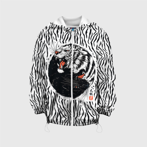 Детская куртка 3D  Фото 01, Yin Yang Tigers