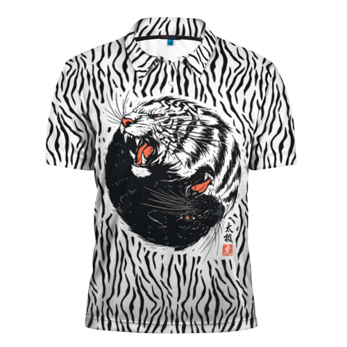 Мужская рубашка поло 3D  Фото 01, Yin Yang Tigers