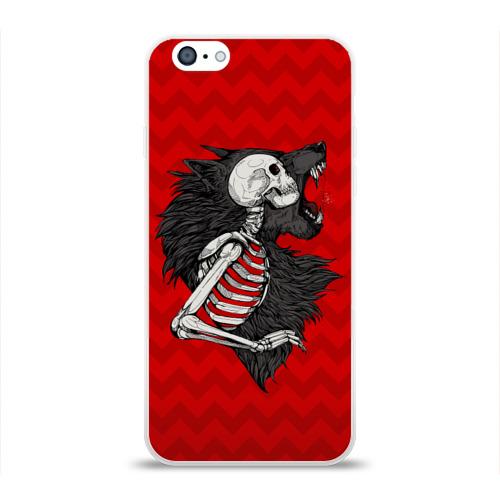Чехол для Apple iPhone 6 силиконовый глянцевый Wolf Rage