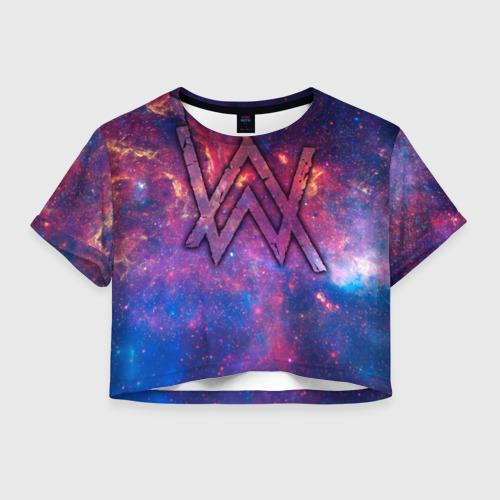 Женская футболка Crop-top 3D Alan Walker 6