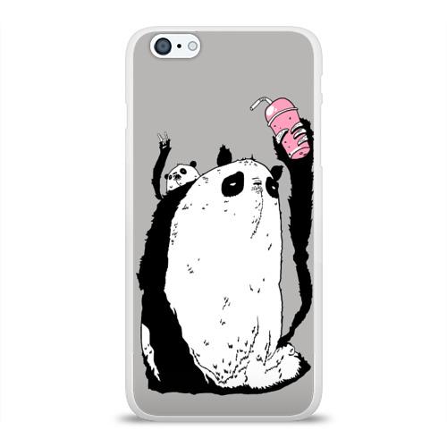 Чехол для Apple iPhone 6Plus/6SPlus силиконовый глянцевый  Фото 01, panda