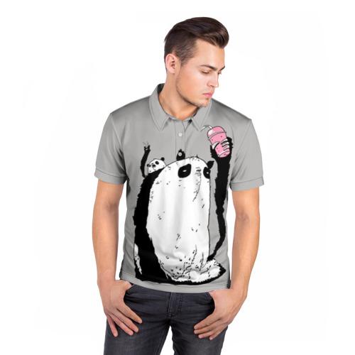 Мужская рубашка поло 3D  Фото 05, panda