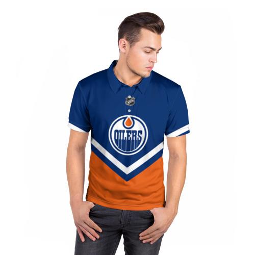 Мужская рубашка поло 3D  Фото 05, Edmonton Oilers