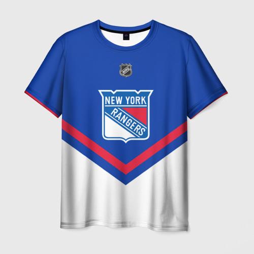 Мужская футболка 3D  Фото 01, New York Rangers
