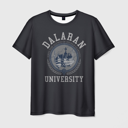 Мужская футболка 3D DALARAN UNIVERSITY