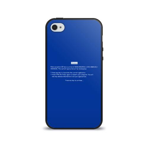 Чехол для Apple iPhone 4/4S силиконовый глянцевый  Фото 01, Системная ошибка