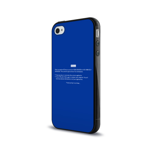 Чехол для Apple iPhone 4/4S силиконовый глянцевый  Фото 03, Системная ошибка